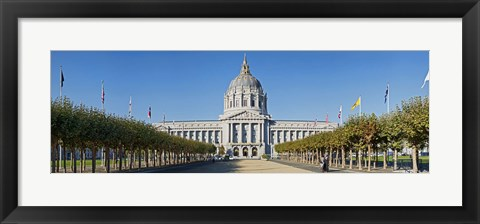 Framed Facade of the Historic City Hall near the Civic Center, San Francisco, California, USA Print