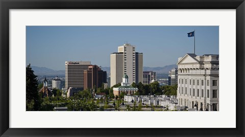 Framed Utah State Capitol Building, Salt Lake City Council Hall, Salt Lake City, Utah, USA Print