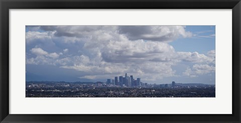 Framed Cloudy Sky Over Los Angeles Print
