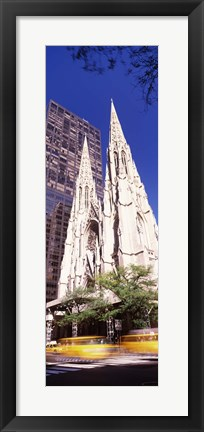 Framed Buildings in the city, St. Patrick's Cathedral, New York City, New York State, USA Print