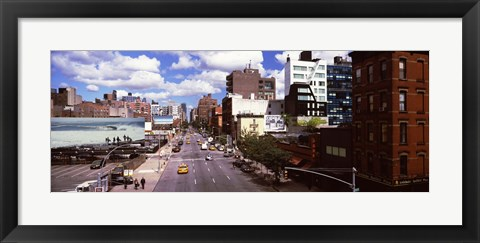 Framed High angle view of buildings along 10th Avenue, New York City, New York State, USA Print
