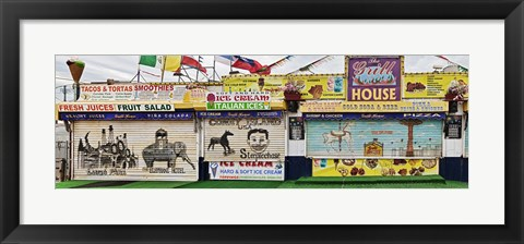 Framed Old Store Front along Riegelmann Boardwalk, Long Island, Coney Island, New York City, New York State, USA Print