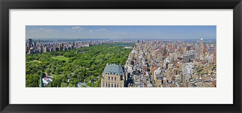 Framed Aerial view of a city, Central Park, Manhattan, New York City, New York State, USA 2011 Print