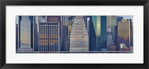 Framed New York City Skyscrapers 2011 (close-up) Print