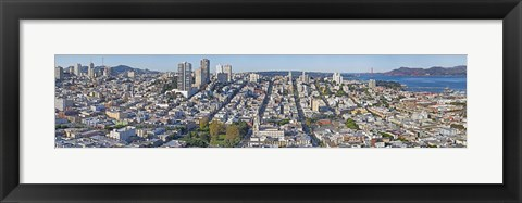 Framed High angle view of San Francisco, California Print