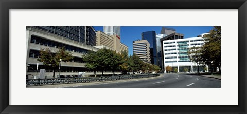 Framed Buildings in a city, Downtown Denver, Denver, Colorado, USA Print
