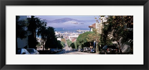 Framed Street scene, San Francisco, California, USA Print