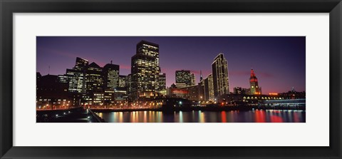 Framed Buildings on the San Francisco at Night, California, USA Print