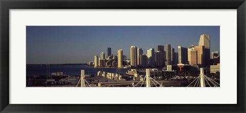 Framed Buildings in a city, Miami, Florida, USA Print