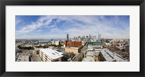 Framed Buildings in Downtown Los Angeles, Los Angeles County, California, USA 2011 Print