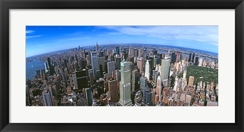 Framed Aerial view of New York City, New York State, USA 2012 Print