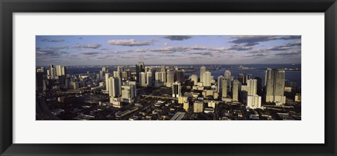 Framed Clouds over the city skyline, Miami, Florida Print