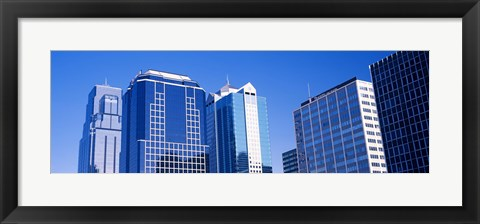 Framed Skyscrapers in downtown Kansas City Print