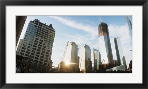 Framed Skyscrapers in a city, New York City, New York State, USA 2012 Print
