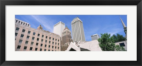 Framed Close up of downtown buildings, Tulsa, Oklahoma Print