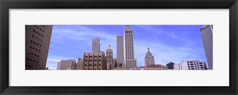 Framed Parking lot at downtown Tulsa, Oklahoma, USA Print