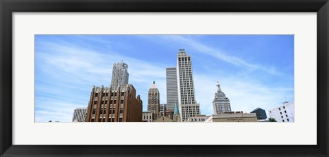Framed DowntownTulsa skyline, Oklahoma Print
