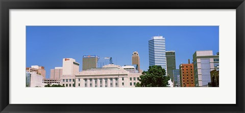 Framed Municipal Building in the downtown, Oklahoma City, Oklahoma, USA Print