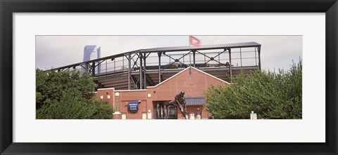 Framed Warren Spahn Plaza at the Chickasaw Bricktown Ballpark, Oklahoma City, Oklahoma, USA Print