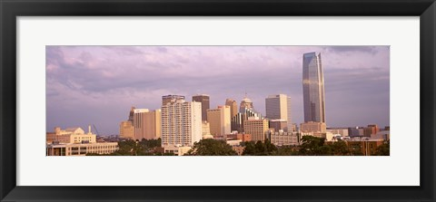Framed Downtown skyline, Oklahoma City, Oklahoma Print