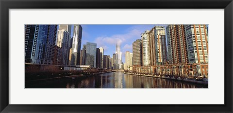 Framed Skyscraper in a city, Trump Tower, Chicago, Cook County, Illinois, USA Print