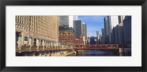 Framed Building at the waterfront, Merchandise Mart, Chicago River, Chicago, Cook County, Illinois, USA Print