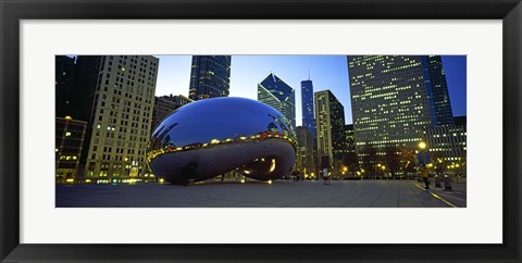 Framed Buildings in a city, Cloud Gate, Millennium Park, Chicago, Cook County, Illinois, USA Print