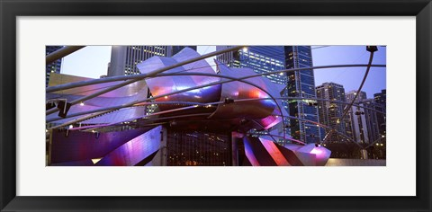 Framed Low angle view of Jay Pritzker Pavilion, Millennium Park, Chicago, Cook County, Illinois Print