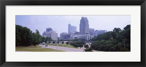Framed Street scene with buildings in a city, Raleigh, Wake County, North Carolina, USA Print
