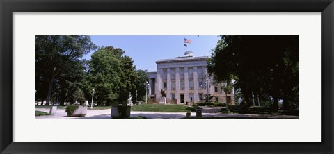 Framed Government building in a city, City Hall, Raleigh, Wake County, North Carolina, USA Print