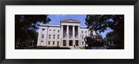 Framed Facade of a government building, City Hall, Raleigh, Wake County, North Carolina, USA Print