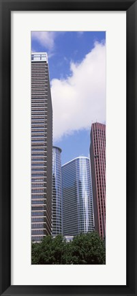 Framed Low angle view of a building, Houston, Texas, USA Print