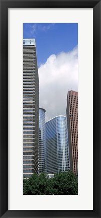 Framed Wedge Tower, ExxonMobil Building, Chevron Building, Houston, Texas Print