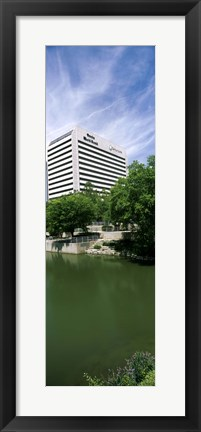 Framed Building at the waterfront, Qwest Building, Omaha, Nebraska, USA Print