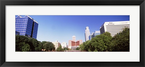 Framed Buildings in a city, Omaha, Nebraska Print