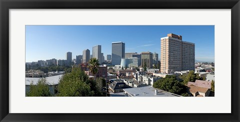 Framed View over Oakland from Adams Point, California Print