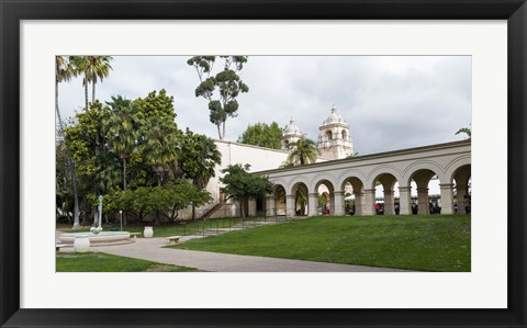 Framed Colonnade in Balboa Park, San Diego, California, USA Print