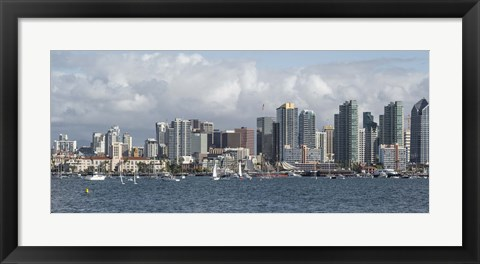 Framed Cloudy Sky Over San Diego Print