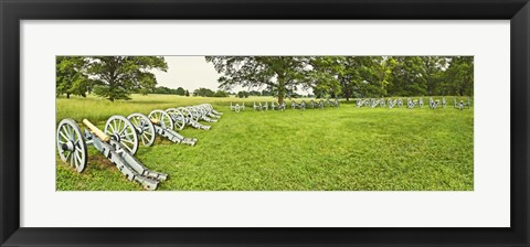Framed Cannons in a park, Valley Forge National Historic Park, Philadelphia, Pennsylvania, USA Print