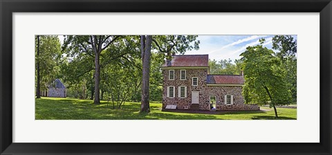 Framed Facade of a building, Washington's Headquarters, Valley Forge National Historic Park, Philadelphia, Pennsylvania, USA Print