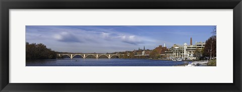 Framed Francis Scott Key Bridge over the Potomac River, Old Georgetown, Washington DC, USA Print