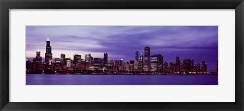 Framed Chicago in Purple Print