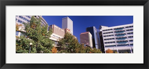 Framed Low angle view of buildings in a city, Sheraton Downtown Denver Hotel, Denver, Colorado, USA Print