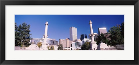 Framed Buildings from Civic Center Park, Denver, Colorado, USA Print