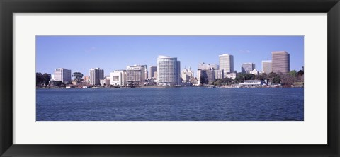 Framed Skyscrapers in a lake, Lake Merritt, Oakland, California, USA Print