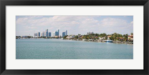 Framed Buildings at the waterfront, Miami, Florida, USA (daytime) Print