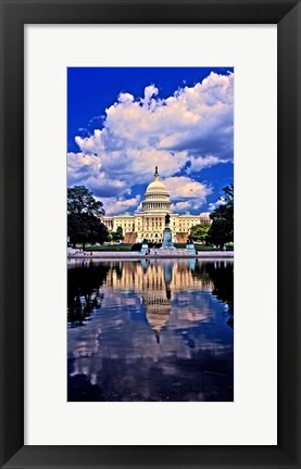 Framed Government building on the waterfront, Capitol Building, Washington DC Print