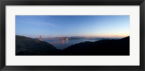 Framed Hawk Hill, Marin Headlands, Goden Gate Bridge, San Francisco, Califorina Print