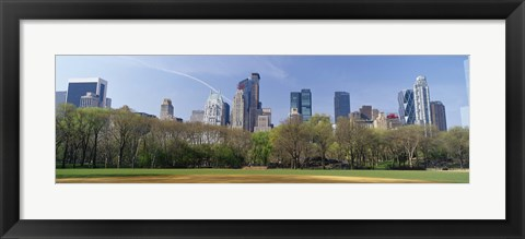 Framed Trees in a park, Central Park South, Central Park, Manhattan, New York City, New York State, USA Print