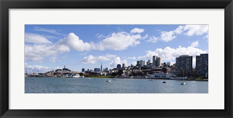 Framed Skyscrapers, Transamerica Pyramid, Ghirardelli Building, Coit Tower, Marina Park, San Francisco, California Print